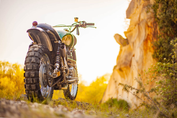 Triumph Scrambler Custom Green Legend 9