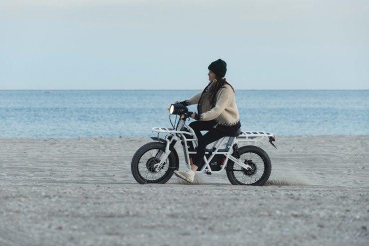 UBCO 2x2 Electric Motorcycle Beach