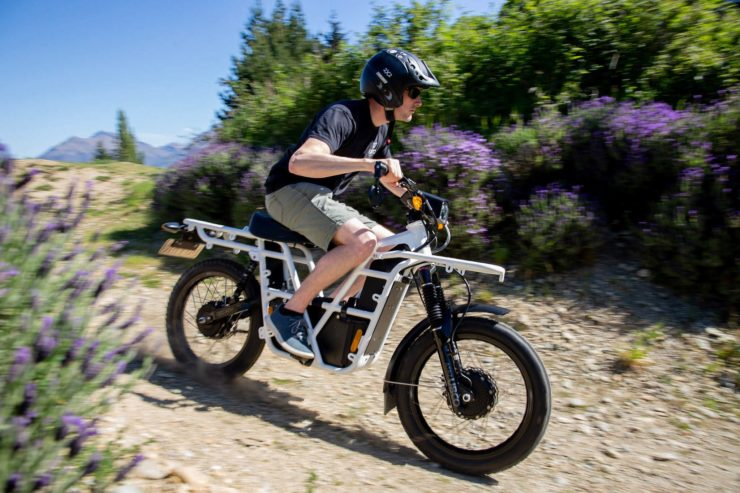 UBCO 2x2 Electric Motorcycle Downhill