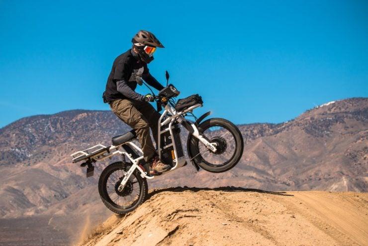 UBCO 2x2 Electric Motorcycle Jump