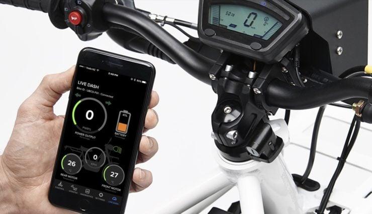 UBCO 2x2 Electric Motorcycle Phone App