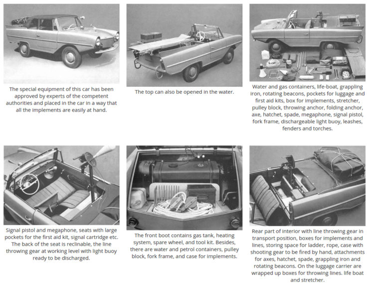 Amphicar specialist emergency equipment