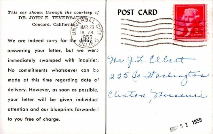 Bangert Postcard Back