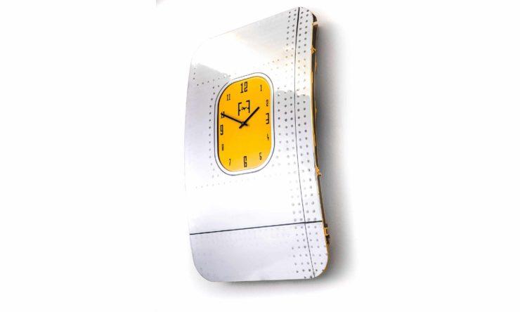 Boeing 747 Window Fuselage Clock by Plane Industries Yellow