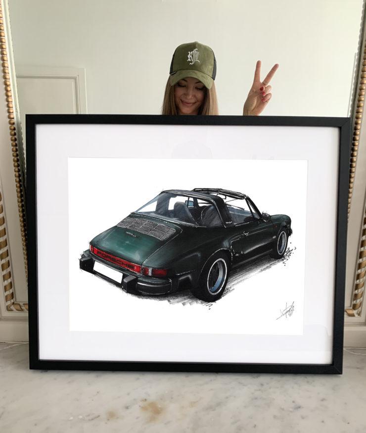 Noémie Marmorat Art Porsche