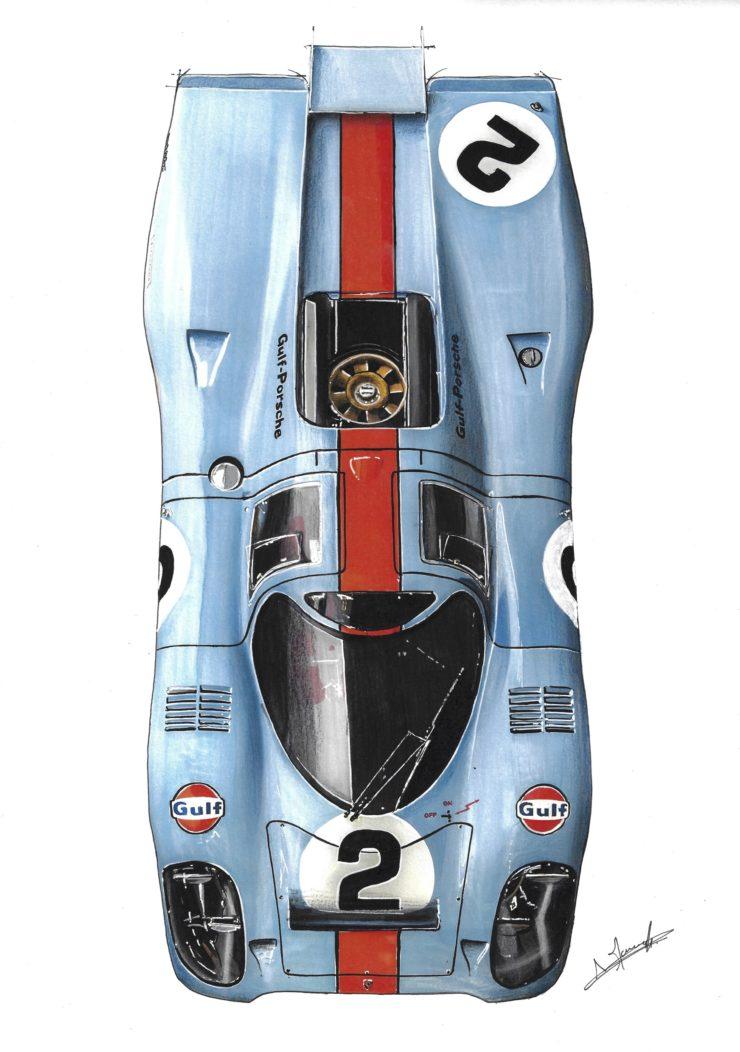 Noémie Marmorat Art Porsche 917 Gulf