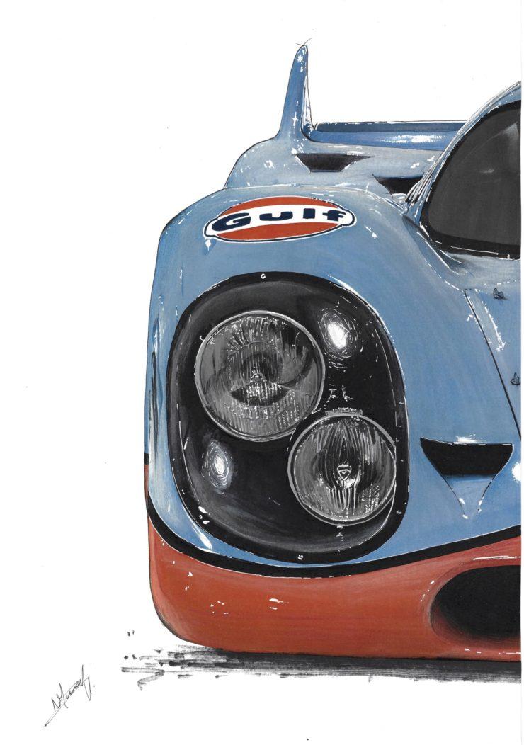Noémie Marmorat Art Porsche Headlights