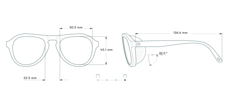 Sunski Treeline Sunglasses Measurements