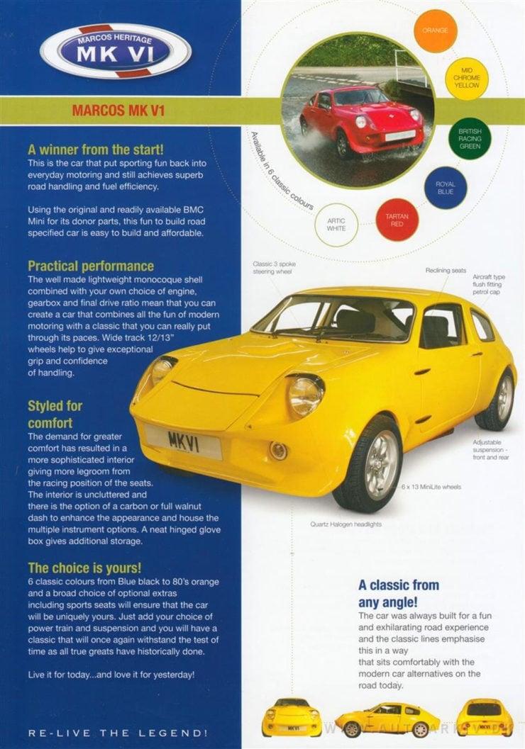 Mini Marcos heritage kit car
