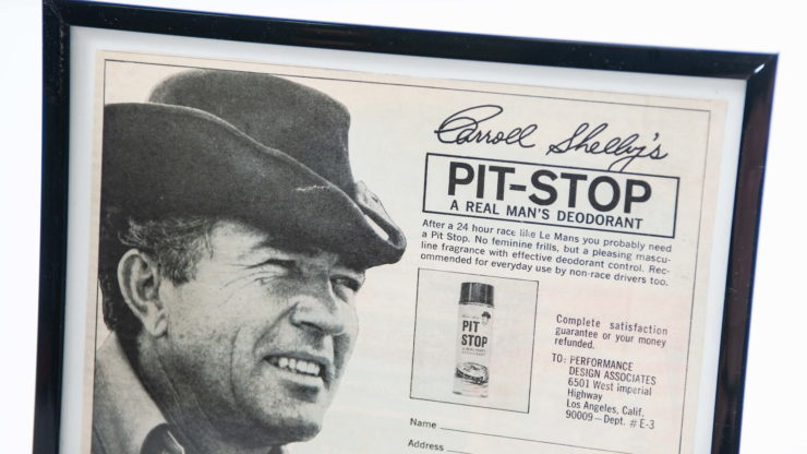 Carroll Shelby's Pit Stop Deodorant Ad