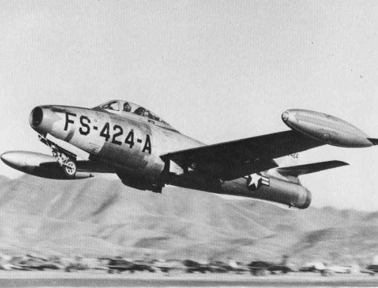 F-84E_of_9th_Fighter-Bomber_Squadron_in_Korea