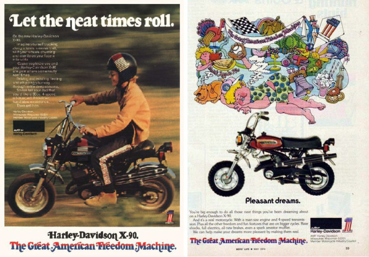 Harley-Davidson X-90 - The Shortster Ads