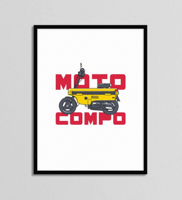 Honda Moto Compo Poster
