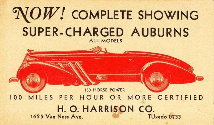 Auburn Boattail Speedster Ad