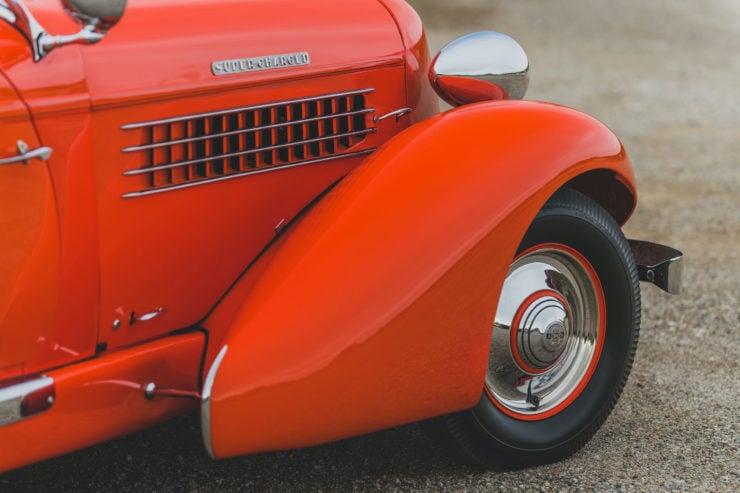 Auburn Boattail Speedster Fender