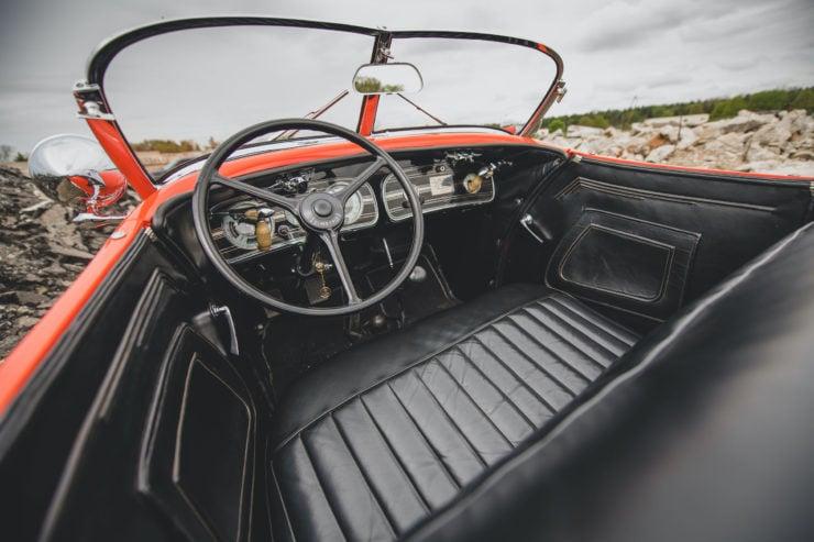 Auburn Boattail Speedster Interior