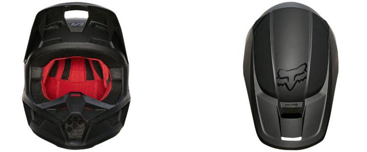Fox Racing V1 Matte Helmet Front + Top