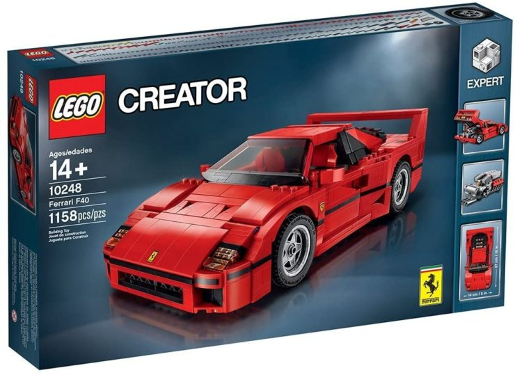 Lego Creator Expert Ferrari F40 Construction Set In Box