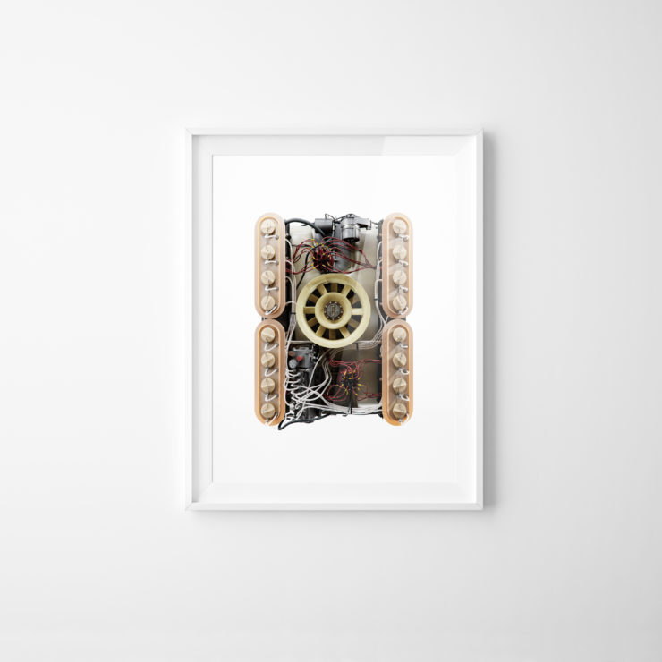 Porsche 917 Flat-16 Engine Prototype Framed Print