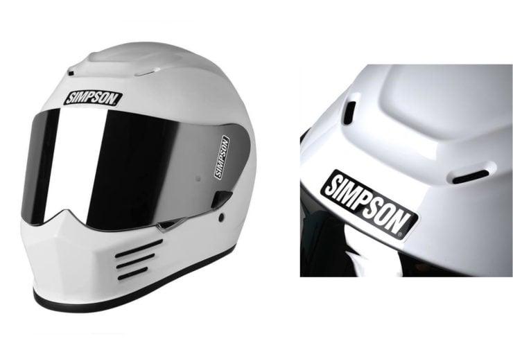 Simpson Speed Bandit Motorcycle Helmet White