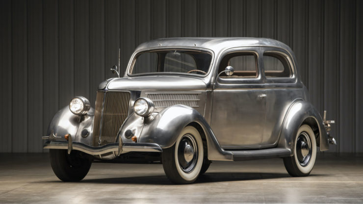 Stainless Steel 1936 Ford Tudor Deluxe Touring Sedan 1