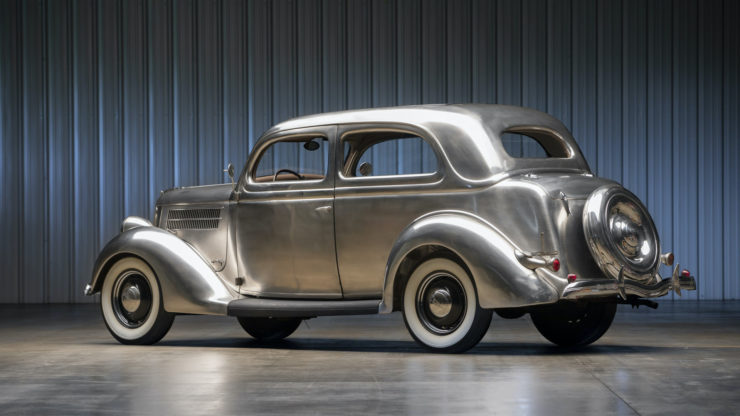 Stainless Steel 1936 Ford Tudor Deluxe Touring Sedan 2