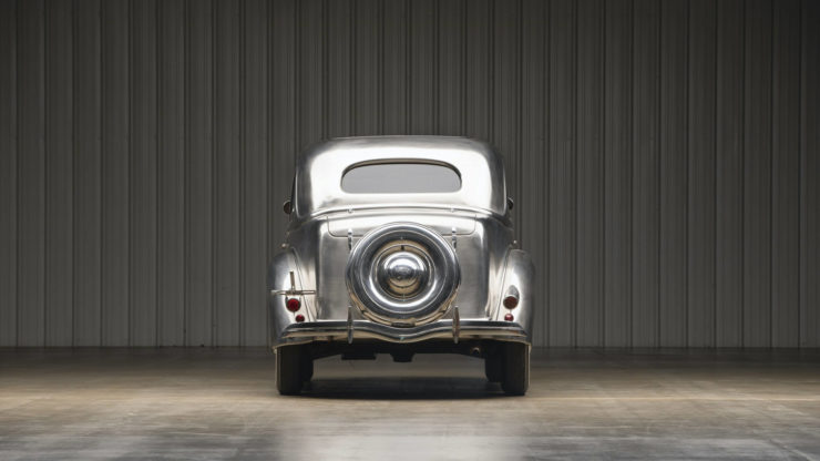 Stainless Steel 1936 Ford Tudor Deluxe Touring Sedan 3
