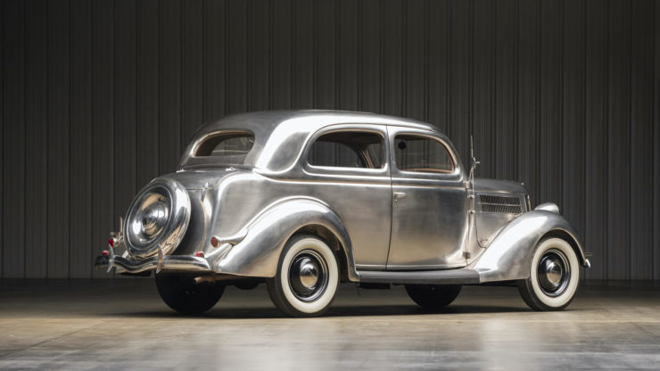 Stainless Steel 1936 Ford Tudor Deluxe Touring Sedan 4