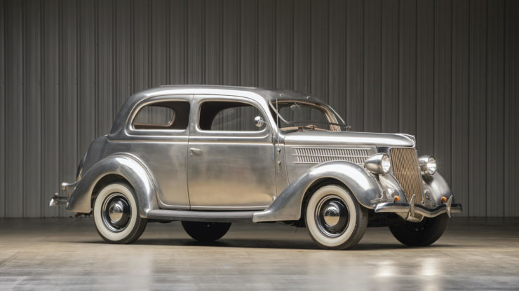 Stainless Steel 1936 Ford Tudor Deluxe Touring Sedan 5