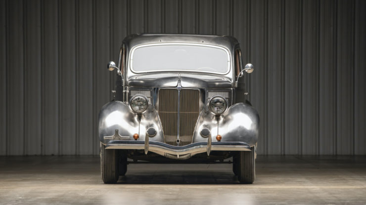Stainless Steel 1936 Ford Tudor Deluxe Touring Sedan
