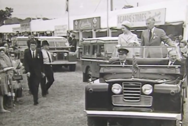 Vintage Land Rover Carrying Queen