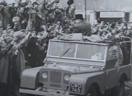 Vintage Land Rover Winston Churchill