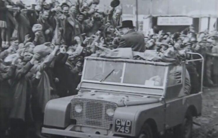 Vintage Land Rover Winston Churchill