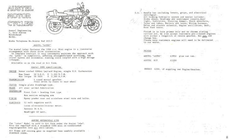 Austel Lotec Information Sheet