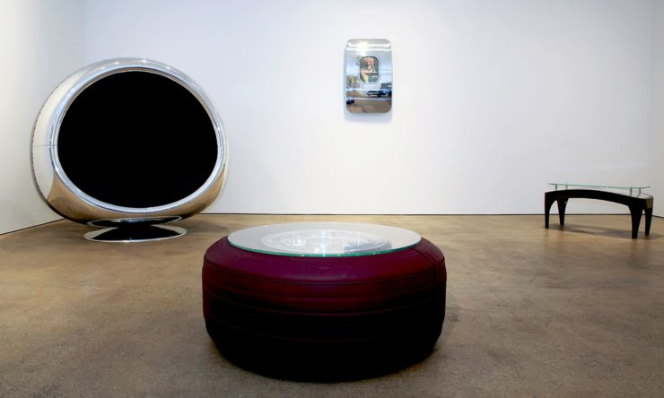 Boeing 747 Wheel + Tire Coffee Table by Plane Industries 3
