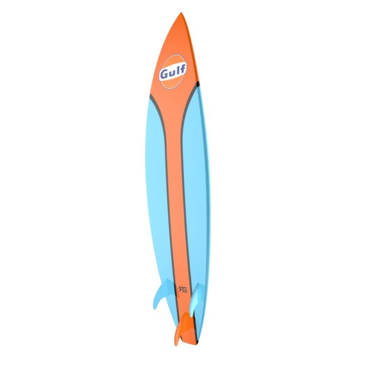 Gulf Livery Surfboard Back