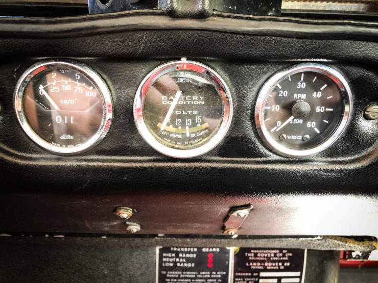 Land Rover Series 3 Gauges