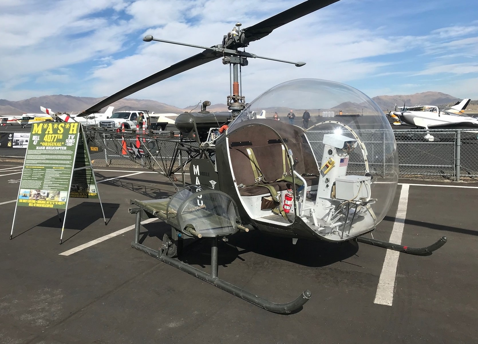 The Original M A S H Bell 47 Helicopter Is For Sale
