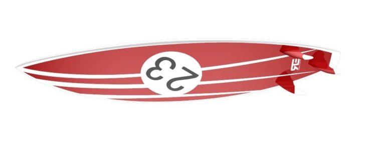 Porsche 917 Livery Surfboard
