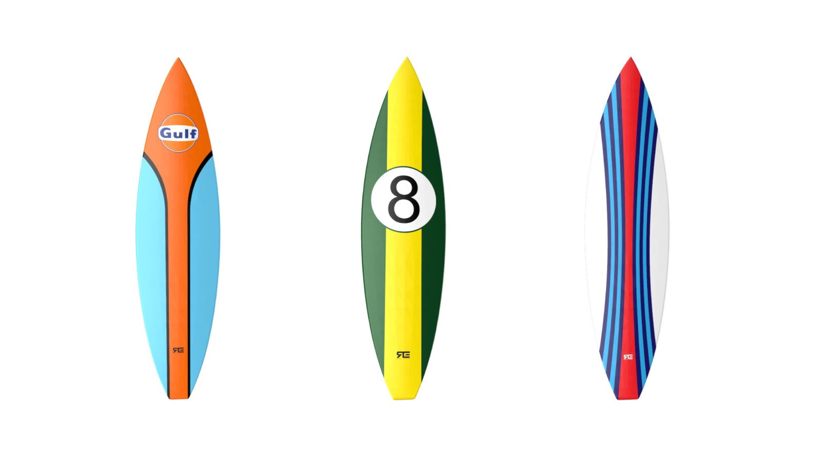 Racing Car Livery Surfboards