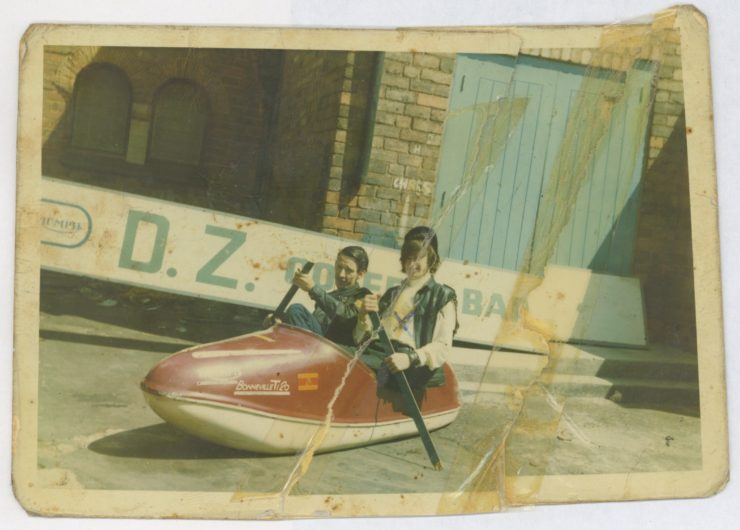 Ray Fox and friend outside the DZ, c.1969 copy