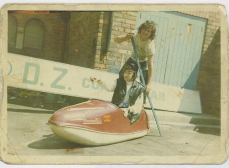Ray Fox and friend outside the DZ, c.1969