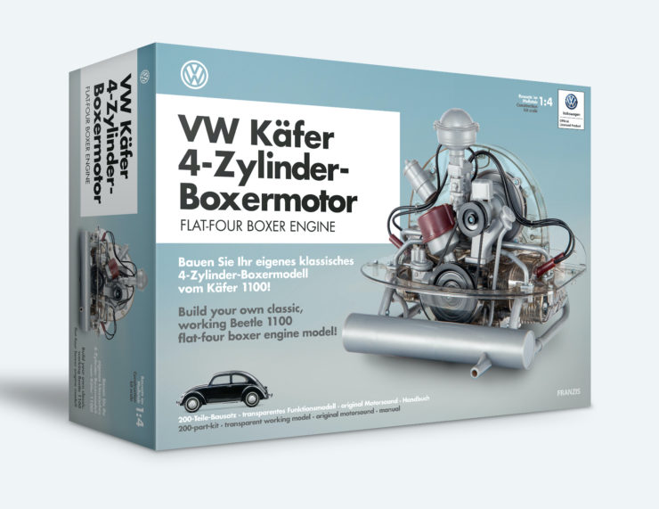 VW Beetle Flat-Four Boxer Engine Kit by Franzis Box