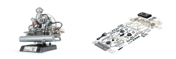 VW Beetle Flat-Four Boxer Engine Kit by Franzis Parts