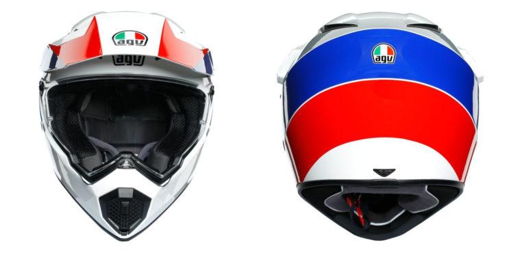 AGV AX9 Ocean Helmet Collage Front Back