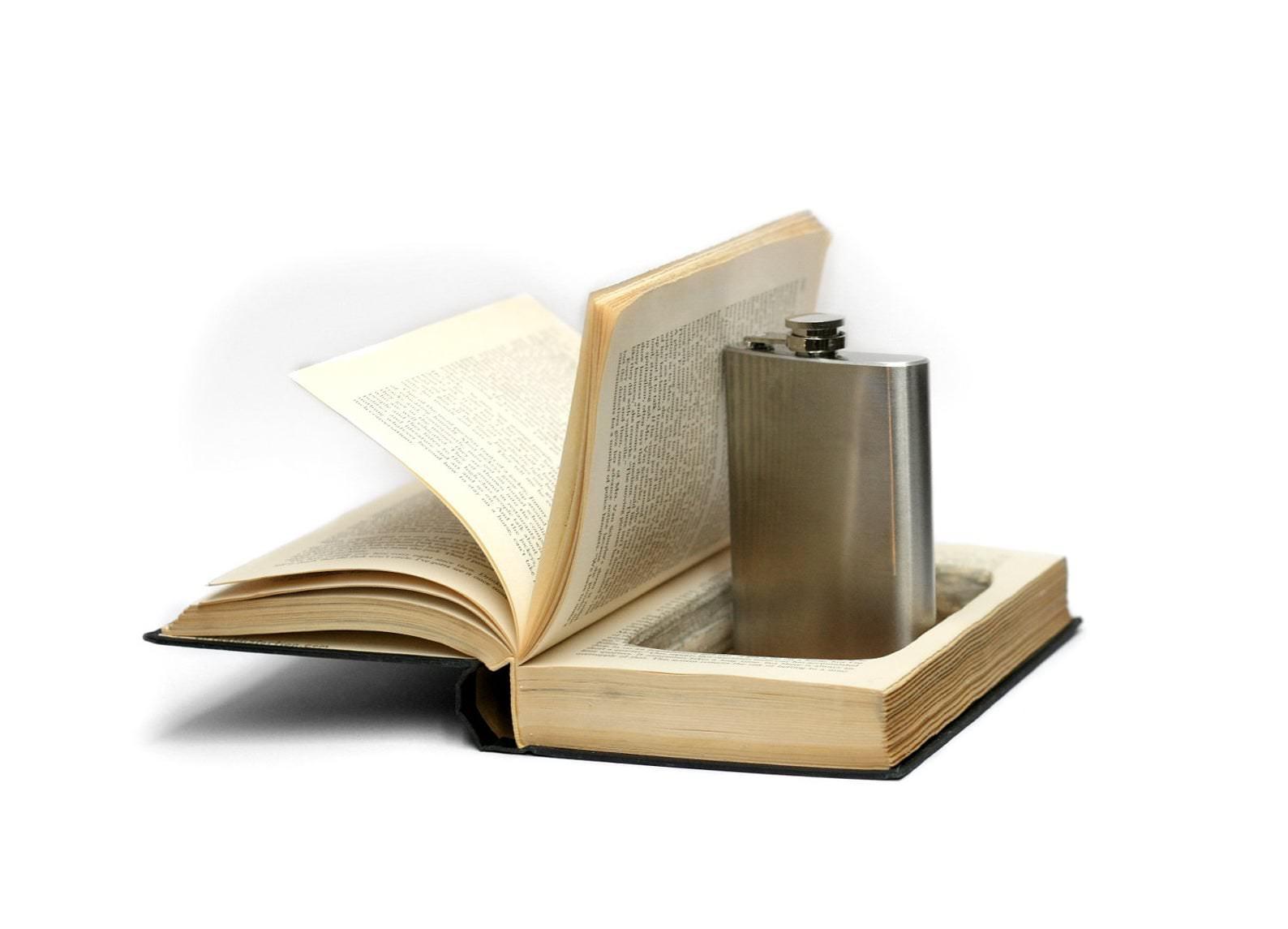 Book With A Hidden Flask
