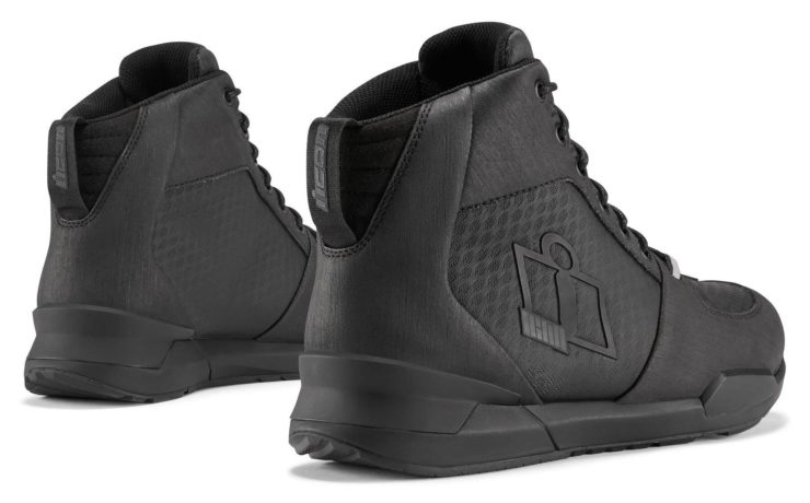 Icon Tarmac WP Boots Black Back