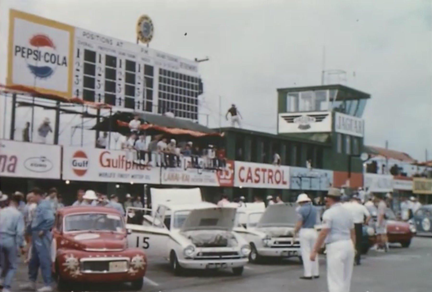 Lotus Cortina at Sebring in 1964
