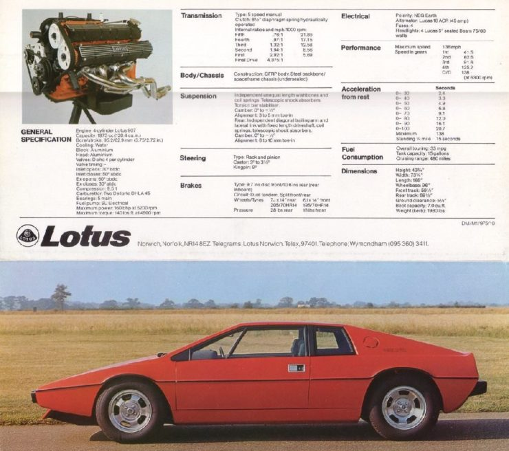 Lotus Esprit Brochure 3