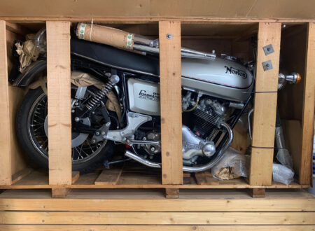 Norton Commando In Crate